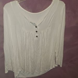 Tops - White peasant style blouse
